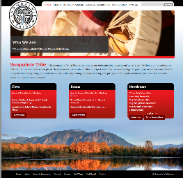 Website for the Snoqualmie Tribe